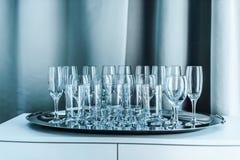 голубые пустые стекла Стоковые Фотографии RF