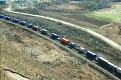 货车移动 免版税库存图片