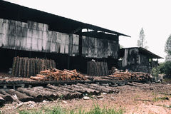 Деревянная фабрика Стоковое Изображение RF