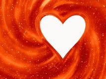 Рамка сердца на солнце излучает предпосылки с путем клиппирования Стоковая Фотография RF