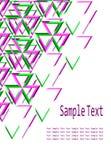 Абстрактная геометрическая визитная карточка брошюры Стоковые Изображения