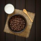 Νιφάδες καλαμποκιού σοκολάτας Στοκ Εικόνα