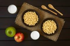 Αρωματικά μέλι δημητριακά προγευμάτων Στοκ Εικόνες