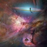 Космос с человеком Стоковая Фотография