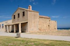 撒丁岛宗教地标 库存照片