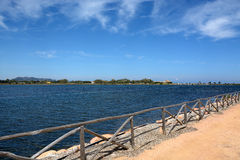 撒丁岛 南海岸的风景地方 免版税图库摄影