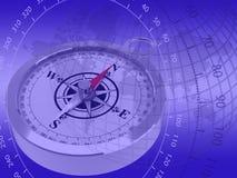 голубая градация компаса Стоковые Фото