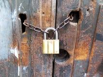 Античная ключевая цепь замка Стоковое Изображение