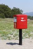 红色日本邮箱 免版税库存照片