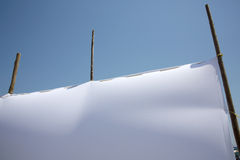 空白的白色帆布 免版税图库摄影