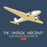 Δίδυμου κινητήρα επιβάτης αεροπλάνου Για την ετικέτα και τα εμβλήματα Στοκ Εικόνες