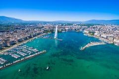 Εναέρια άποψη της πόλης της Γενεύης - Ελβετία Στοκ φωτογραφία με δικαίωμα ελεύθερης χρήσης