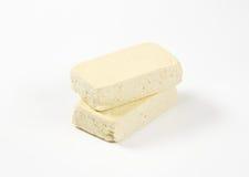 新鲜的豆腐块  免版税库存照片