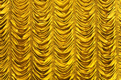χρυσή σύσταση κουρτινών Στοκ Εικόνες