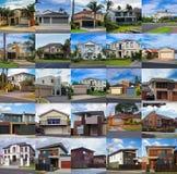 вектор установленный домами Стоковое Фото