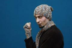 人帽子冬天年轻人 库存照片