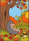 Животные шаржа для детей Маленький милый еж Стоковые Изображения