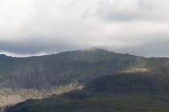 从西部的斯诺登山 库存照片
