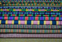 五颜六色的材料堆  免版税库存图片