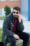 Молодой человек с взглядом битника Стоковая Фотография