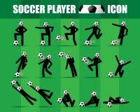 足球足球运动员象传染媒介 免版税库存图片