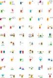 ОЛИМПИЙСКИМИ значки покрашенные СПОРТ плоские Стоковое фото RF