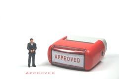 批准 免版税库存图片