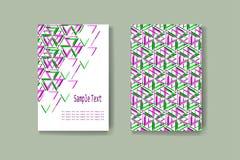 Абстрактная геометрическая визитная карточка брошюры Стоковая Фотография