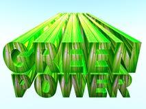 зеленая сила Стоковое Изображение RF