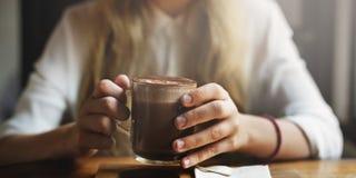 Концепция свободного времени питья релаксации кофейни Стоковые Фото