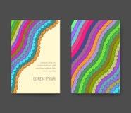 Визитная карточка с яркими линиями План рогульки Стоковое Изображение
