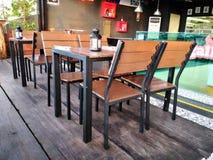 咖啡馆外部设计 免版税库存照片