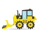 动画片平的推土机传染媒介产业运输例证 免版税图库摄影