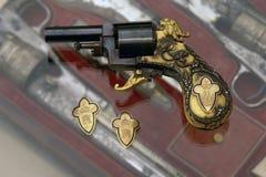 法鲁克国王的手枪 免版税库存照片