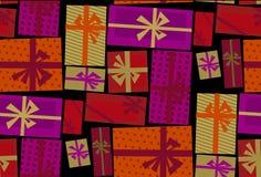 Τυλίγοντας έγγραφο συσκευασίας Χριστουγέννων Στοκ Εικόνες