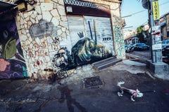 Граффити в Тель-Авив Стоковое фото RF