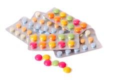 изолированная белизна таблетки Стоковое фото RF
