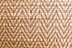 垫席纺织法纹理背景 免版税库存照片