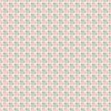 模式无缝的向量 与手拉的正方形的黑和红色几何背景 免版税库存图片