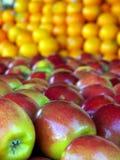 Яблоки и померанцы Стоковые Фотографии RF