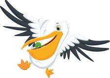 Милый пеликан есть рыб Стоковое Фото