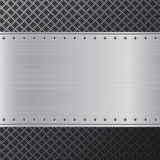 金属背景 黑和银色钢背景 抽象背景 库存图片