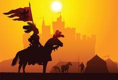 骑马骑士 免版税图库摄影
