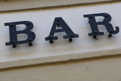 酒吧在布拉格 图库摄影