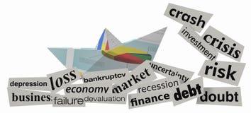 κρίση έννοιας οικονομική Στοκ φωτογραφία με δικαίωμα ελεύθερης χρήσης