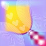 Ιώδεις, πορτοκαλιές και ρόδινες άσπρες καρδιές υποβάθρου Στοκ Εικόνα