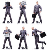 Бизнесмен с сережками на белизне Стоковые Изображения RF