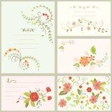 Ευχετήρια κάρτα λουλουδιών Στοκ εικόνα με δικαίωμα ελεύθερης χρήσης