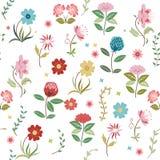Άνευ ραφής σύσταση λουλουδιών Στοκ Εικόνες