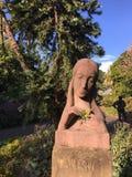 '我在悉尼植物园里祝愿'雕象 免版税库存照片